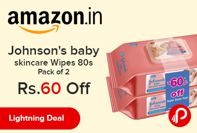 Johnson's baby skincare Wipes 80s Pack of 2
