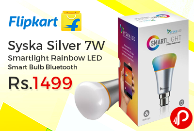 Syska Silver 7W Smartlight Rainbow LED Smart Bulb