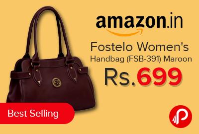 Fostelo Women s Handbag (FSB-391) Maroon Just Rs.699   Bestseller – Amazon 17dd7935b3
