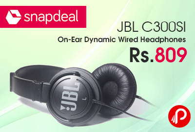 f7264a1d915 JBL C300SI On-Ear Dynamic Wired Headphones Just Rs.809 – Snapdeal