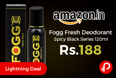 Fogg Fresh Deodorant Spicy Black Series 120ml