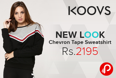 NEW LOOK Chevron Tape Sweatshirt