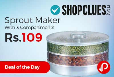 Sprout Maker With 3 Compartments