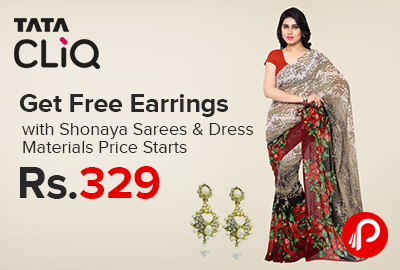 Free Earrings with Shonaya Sarees