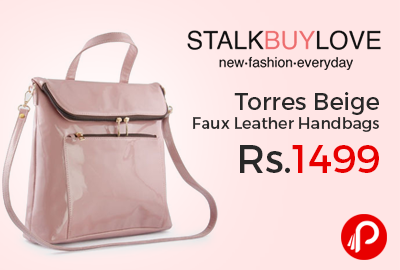 Torres Beige Faux Leather Handbags