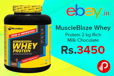 MuscleBlaze Whey Protein 2 kg Rich Milk Chocolate
