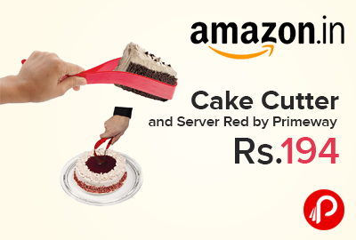 Cake Cutter and Server Red by Primeway Just at Rs.194 - Amazon