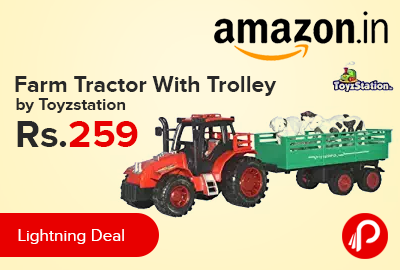 Farm Tractor With Trolley by Toyzstation just at Rs.259 - Amazon