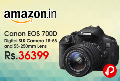 Canon EOS 700D Digital SLR Camera 18-55 and 55-250mm Lens