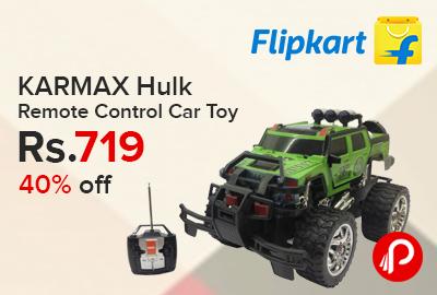 KARMAX Hulk Remote Control Car Toy just at Rs.719 - Flipkart