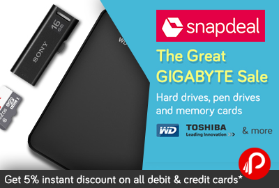 The Great Gigabyte Sale - Toshiba, WD Hard Drives Pen drives and memory cards - Snapdeal