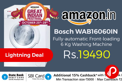 Bosch WAB16060IN Fully-automatic Front-loading 6 Kg Washing Machine