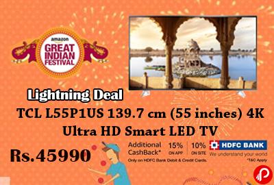TCL L55P1US 139.7 cm (55 inches) 4K Ultra HD Smart LED TV