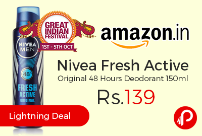 Nivea Fresh Active Original 48 Hours Deodorant 150ml