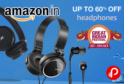 Headphones Exciting Deals Upto 60% off