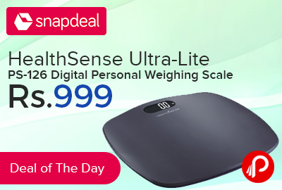 91f7fea80 HealthSense Ultra-Lite PS-126 Digital Personal Weighing Scale at Rs.999 –  Snapdeal