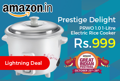 Prestige Delight PRWO 1.0 1-Litre Electric Rice Cooker