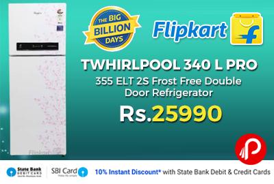 Whirlpool 340 L PRO 355 ELT 2S Frost Free Double Door Refrigerator
