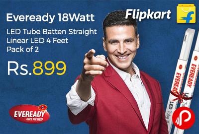 Eveready 18Watt LED Tube Batten Straight Linear LED 4 Feet Pack of 2