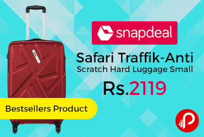 Safari Traffik Anti Scratch Hard Luggage Small 60cm
