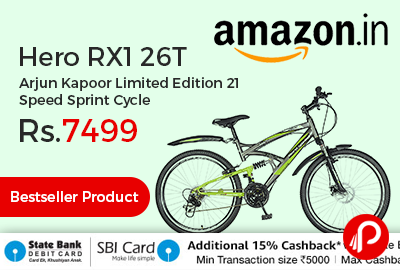 Hero RX1 26T Arjun Kapoor Limited Edition 21 Speed Sprint Cycle