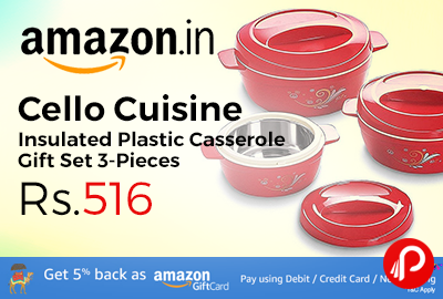 Cello Cuisine Insulated Plastic Casserole Gift