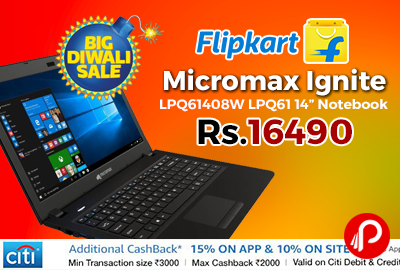 "Micromax Ignite LPQ61408W LPQ61 14"" Notebook"