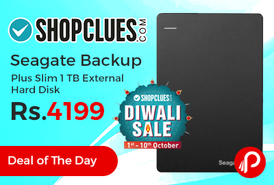 Seagate Backup Plus Slim 1 TB External Hard Disk