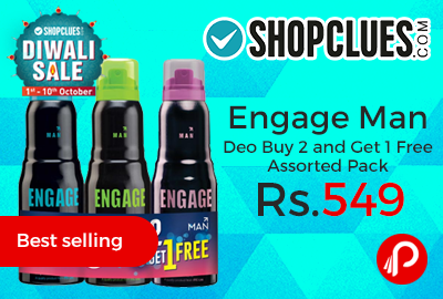 Engage Man Deo Buy 2 and Get 1 Free Assorted Pack