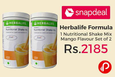 Herbalife Formula 1 Nutritional Shake Mix Mango Flavour Set of 2