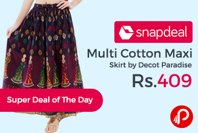 847879aa64 Multi Cotton Maxi Skirt by Decot Paradise at Rs.409 – Snapdeal