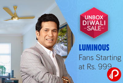 Luminous Fans Starting at Rs.999