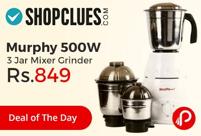 Murphy 500W 3 Jar Mixer Grinder Just at Rs.849 - Shopclues