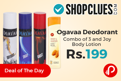 Ogavaa Deodorant Combo of 3 and Joy Body Lotion