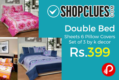 Double Bed Sheets 6 Pillow Covers