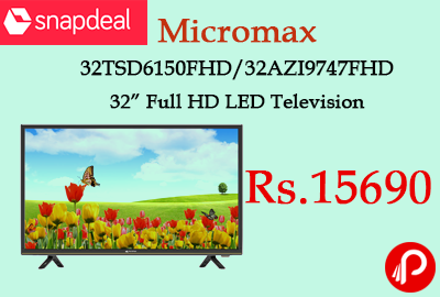 """Micromax 32TSD6150FHD/32AZI9747FHD 32"""" Full HD LED Television"""