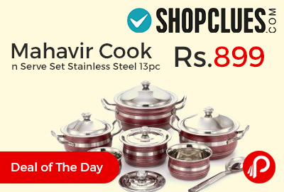 Mahavir Cook n Serve Set Stainless Steel 13pc