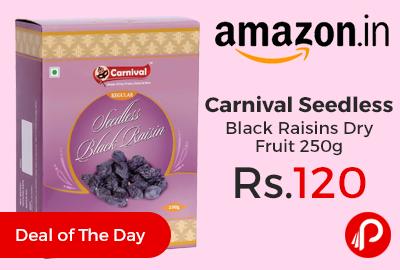 Carnival Seedless Black Raisins Dry Fruit 250g