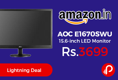 AOC E1670SWU 15.6-inch LED Monitor