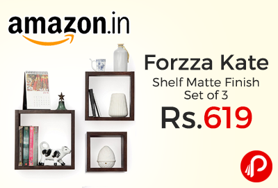 Forzza Kate Wall Shelf Matte Finish Set of 3
