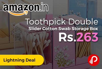 Toothpick Double Slider Cotton Swab Storage Box