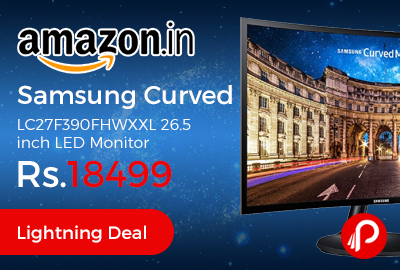 Samsung Curved LC27F390FHWXXL 26.5 inch LED Monitor