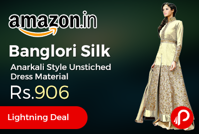 Banglori Silk Anarkali Style Unstiched Dress Material