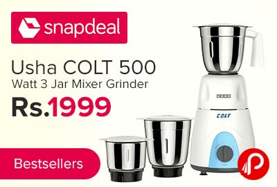 Usha COLT 500 Watt 3 Jar Mixer Grinder