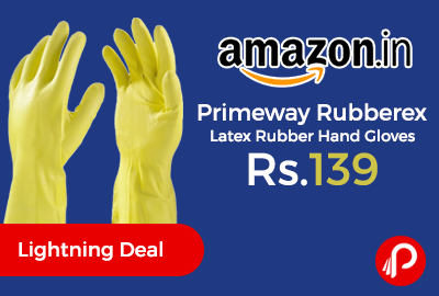Primeway Rubberex Latex Rubber Hand Gloves Just Rs.139 - Amazon