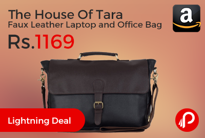 The House Of Tara Faux Leather Laptop and Office Bag
