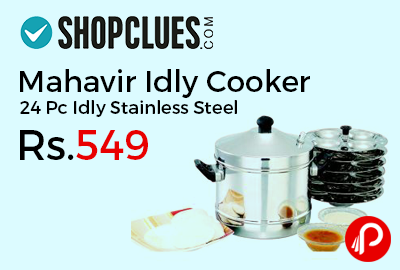 Mahavir Idly Cooker 24 Pc Idly Stainless Steel