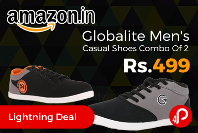 Globalite Men's Casual Shoes Combo Of 2