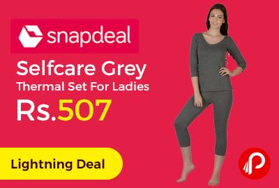 Selfcare Grey Thermal Set For Ladies