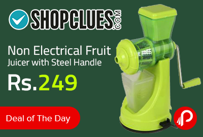 Non Electrical Fruit Juicer with Steel Handle